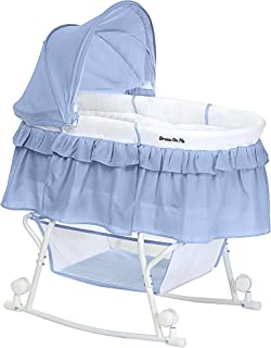 Dream On Me Lacy Portable 2 in 1 Bassinet and Cradle, Serenity