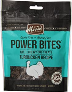 Merrick Power Bites Turducken Recipe Treats 6 Ounce, Pack of 2