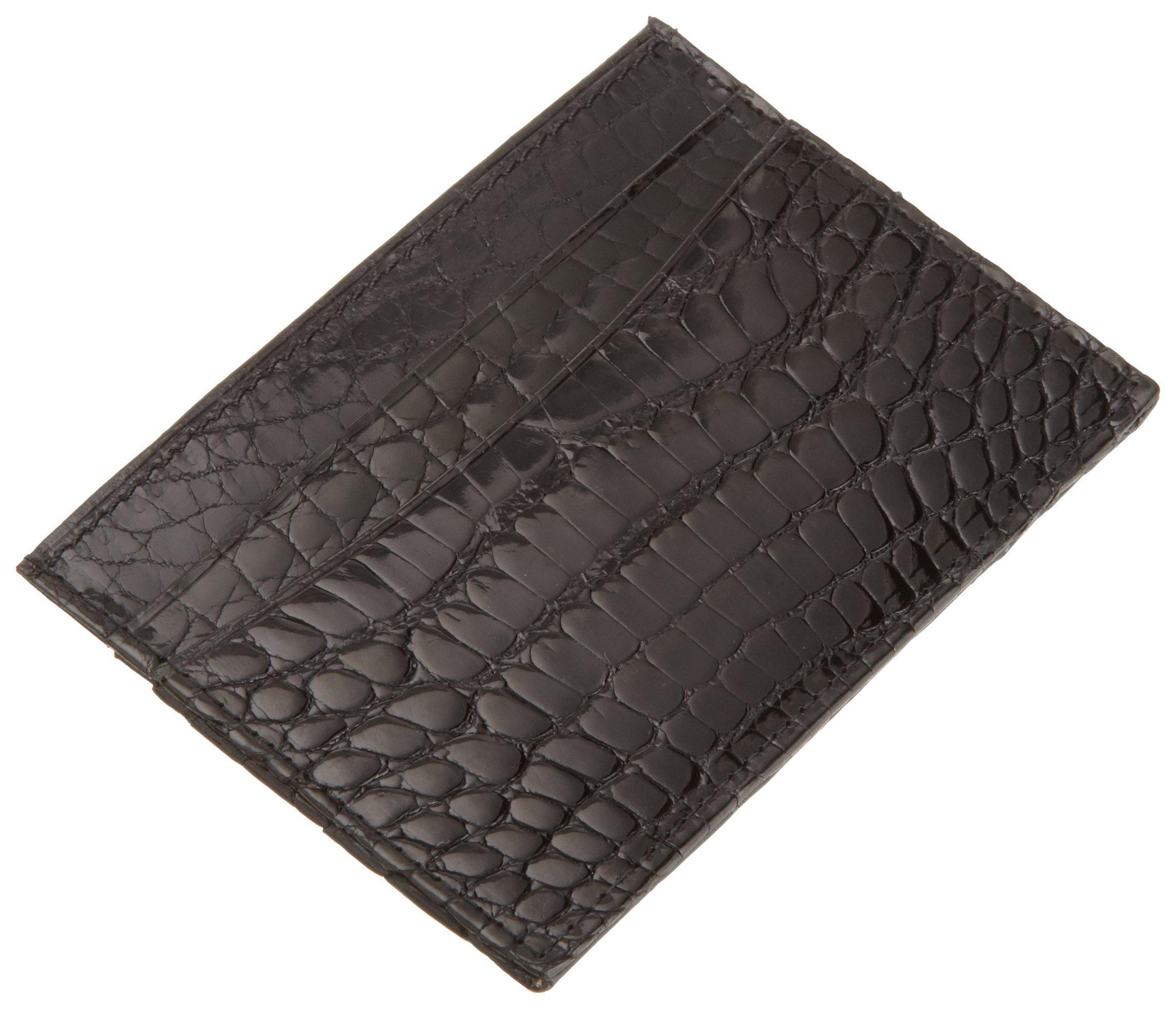 Trafalgar Men's Alligator Slim Card Holder