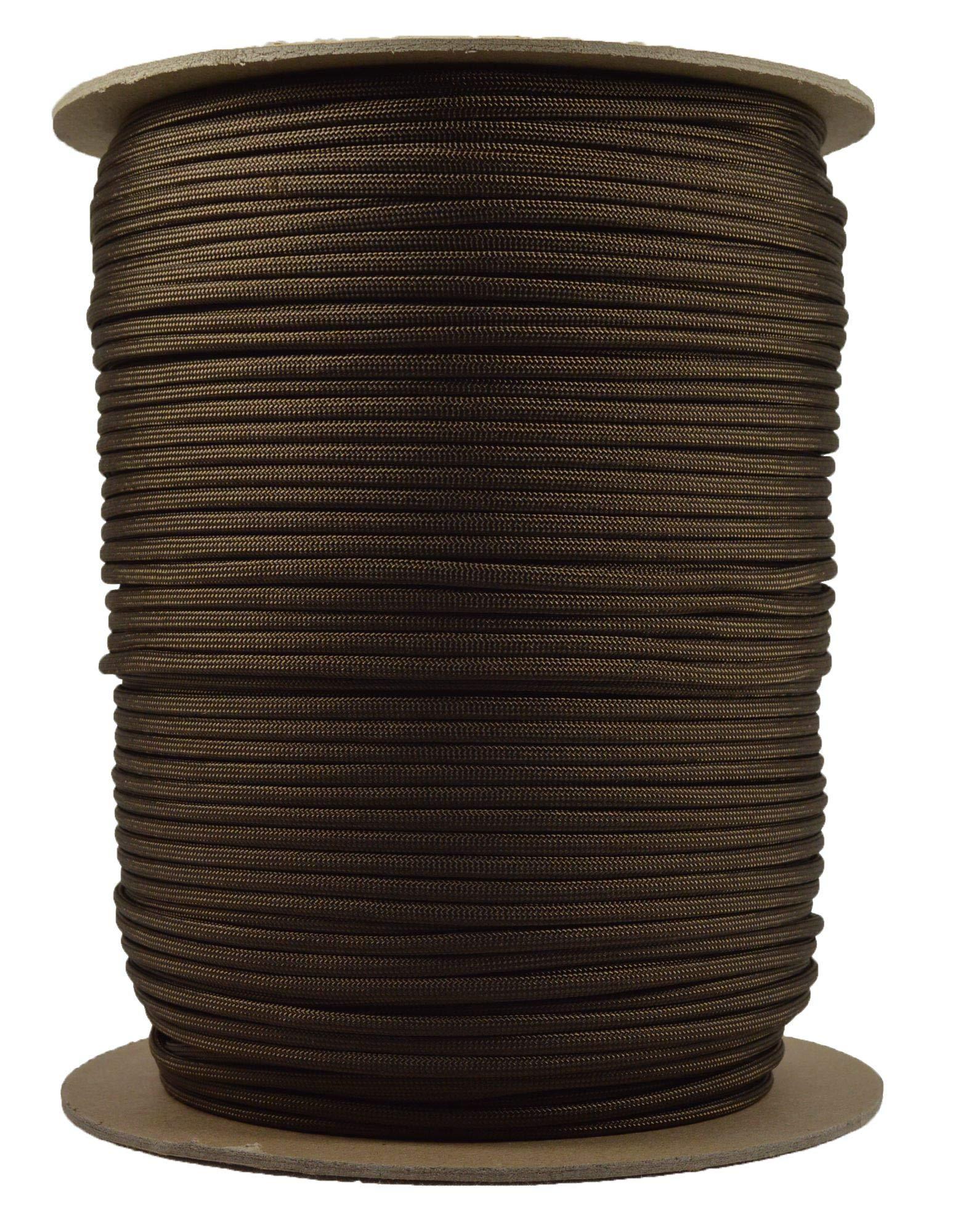 Acid BrownMil-Spec Commercial Grade 550lb Type III Nylon Paracord - 1000 Foot Spool