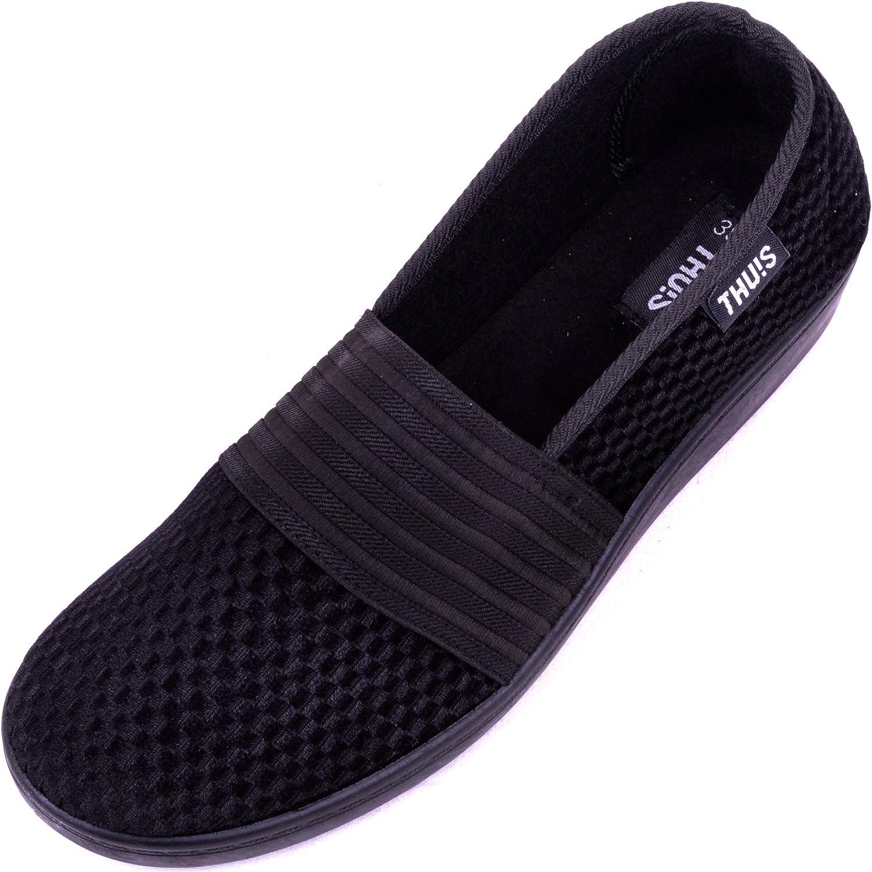 Elasticated Slippers/Shoes - Black - UK