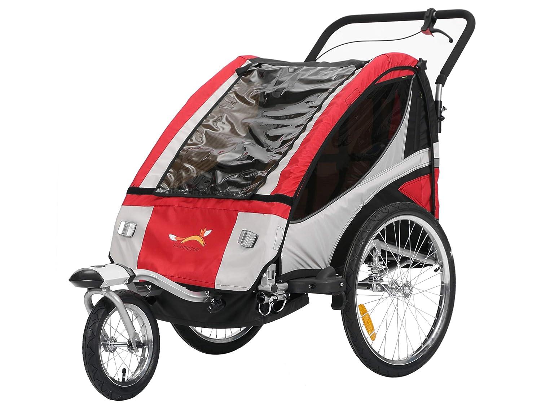 Fiximaster Multifunktion 2 in 1 Fahrradanhänger Jogger Babywagen Jogger Handwagen Rot BT504S