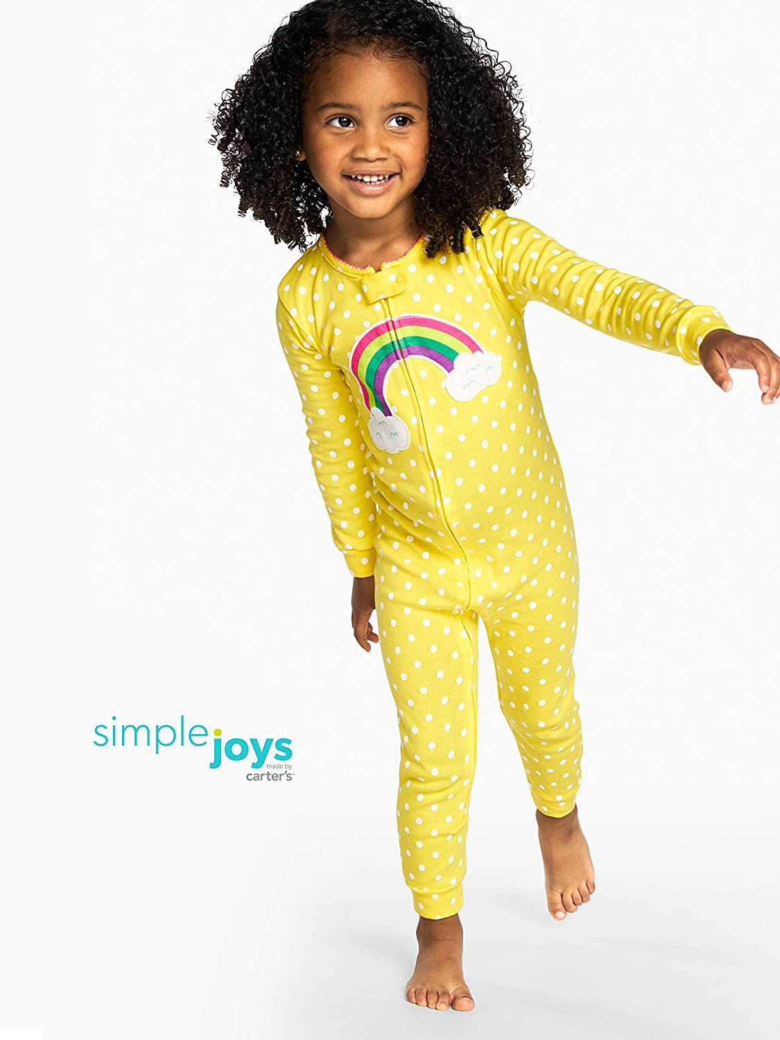Simple Joys by Carters Baby and Toddler Girls 3-Pack Snug Fit Footless Cotton Pajamas