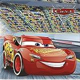 Disney 87799 20 Servietten, CARS 3 für Kindergeburtstag oder Motto-Party, Lightning McQueen Autos Rennautos Rennen