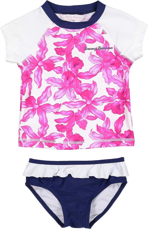 Tommy Bahama Girls 2-Piece Shirt and Bikini Bottom Swim Set