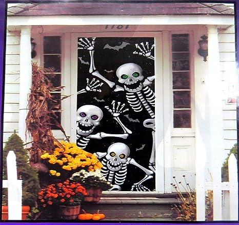 Skeleton Door Cover , Halloween Wall Decoration