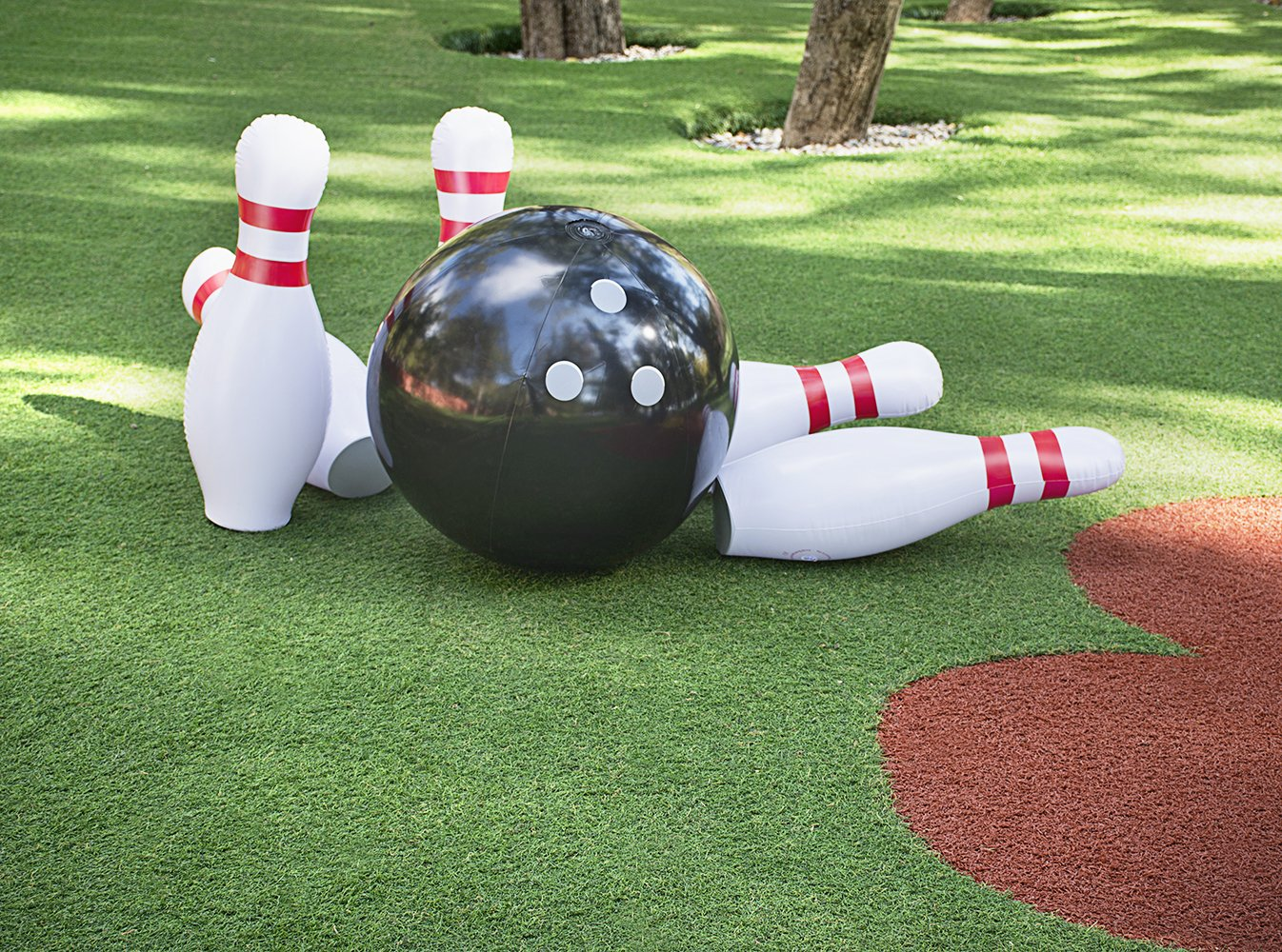 Inflatable Bowling Ball Set – Ideal Fun Game for Kids & Adults, Family Parties & Picnics – Outdoor or Indoor - Stable & Durable – Perfect Size – Includes 1 Ball & 6 Pins by ABCO TECH (Image #2)