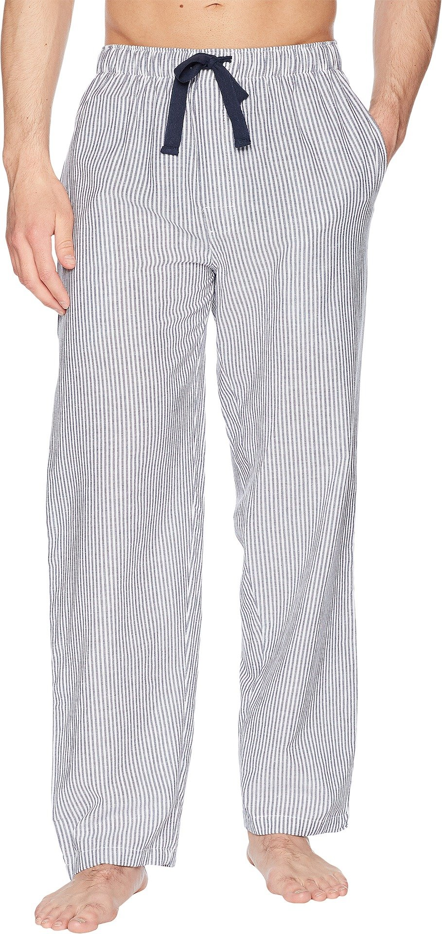 Jockey Men's Yarn-Dye Broadcloth Sleep Pants Navy/White Stripe X-Large