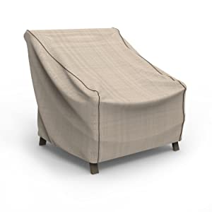 Budge P1W04PM1 English Garden Patio Chair Cover, Extra Large, Tan Tweed