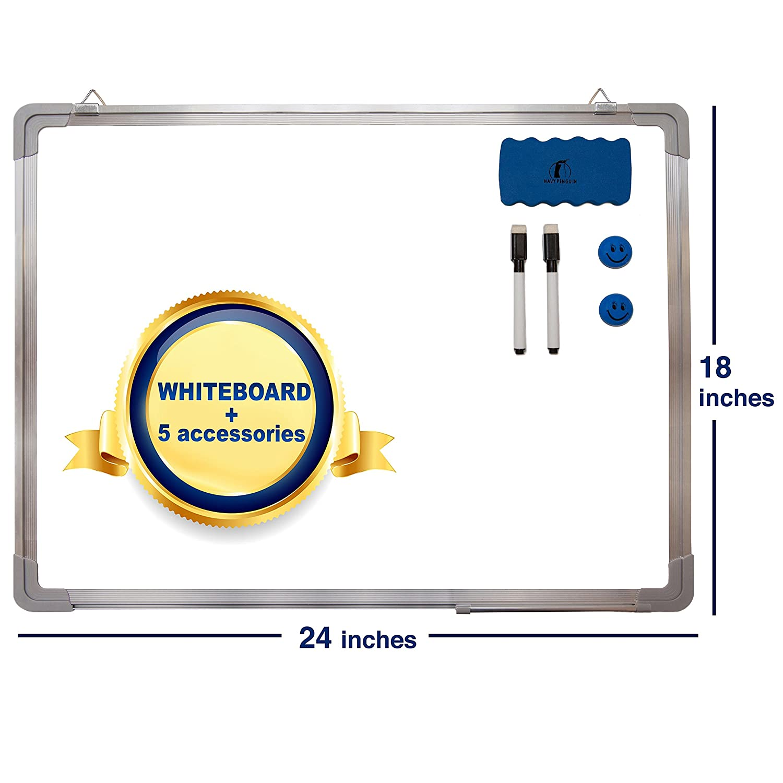 Amazon.com : Whiteboard Set - Dry Erase Board 24 x 18 + 1 Magnetic ...