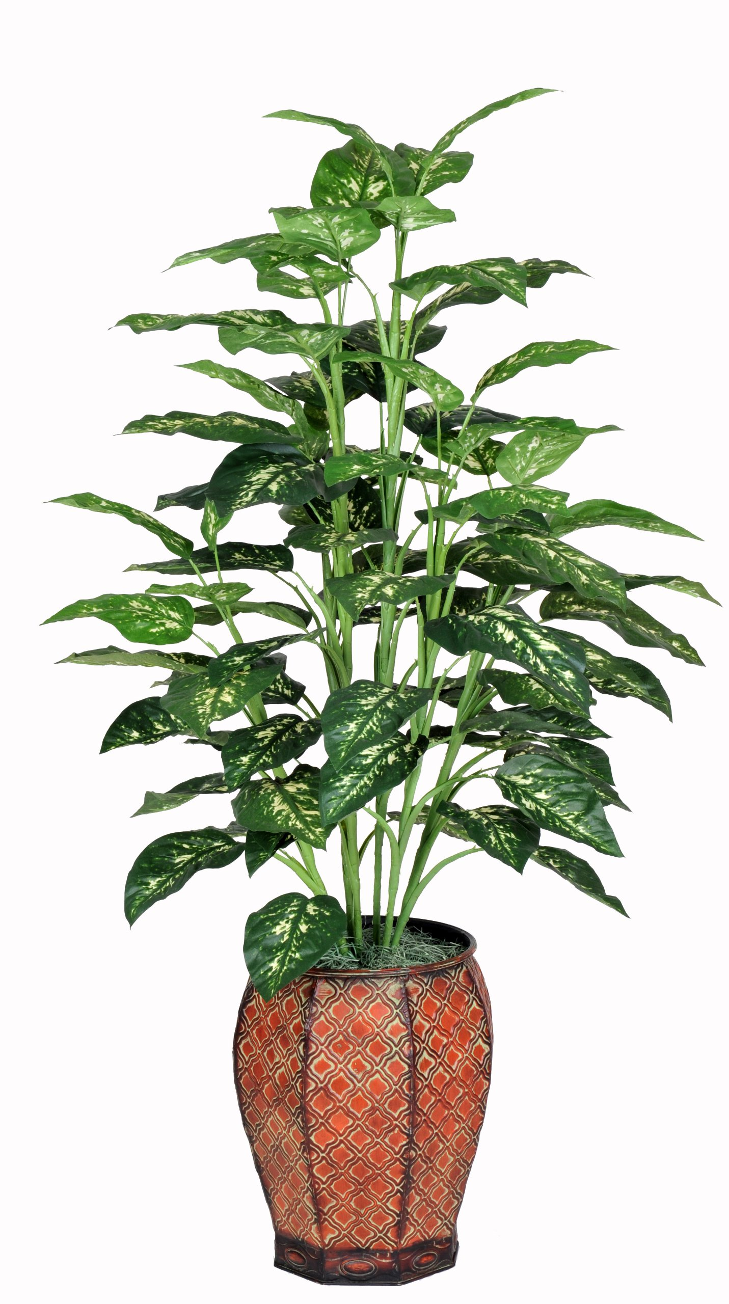 Artificial 4 Ft. Marble Dieffenbachia Floor Plant by House of Silk Flowers