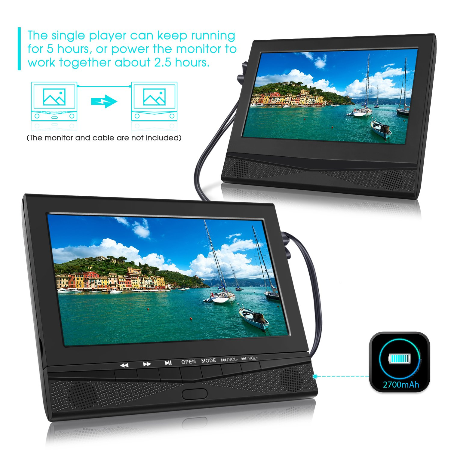 Amazon.com: CUTRIP 10.1 Inch Portable DVD Player with Car Headrest ...