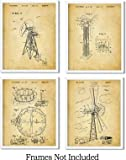 Wind Generating Patent Wall Art Prints - set of