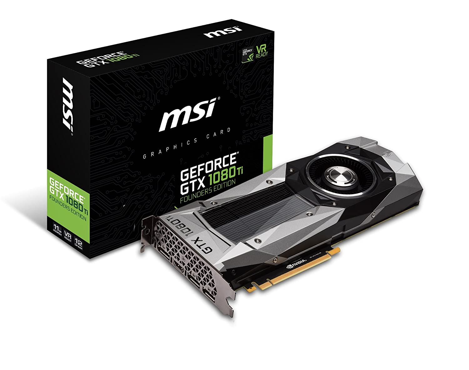 d2145c0a7252a4 Amazon.com  MSI GTX 1080 Ti Founders Edition Graphic Cards GTX 1080 Ti Founders  Edition  Computers   Accessories
