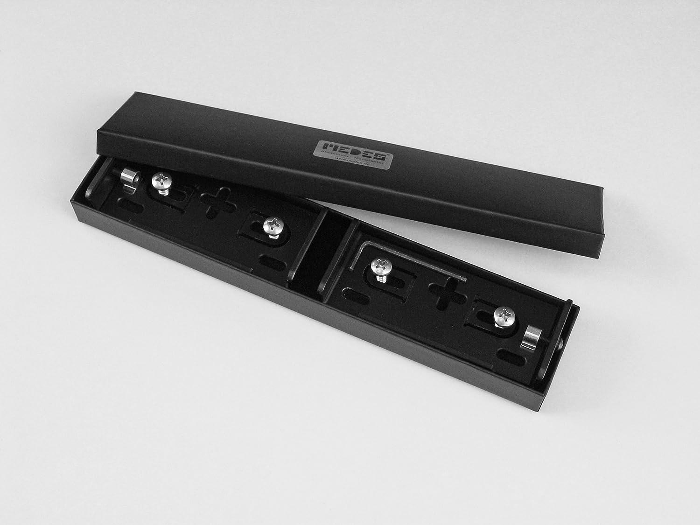 AluFixx Car Premium AT schwarz matt Kennzeichenhalter PKW für Österreich 120 mm