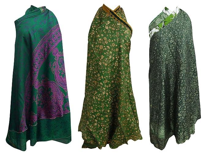 Reversible Pure Seda Vintage Saree Wrap Magic Hippie Sombras de ...
