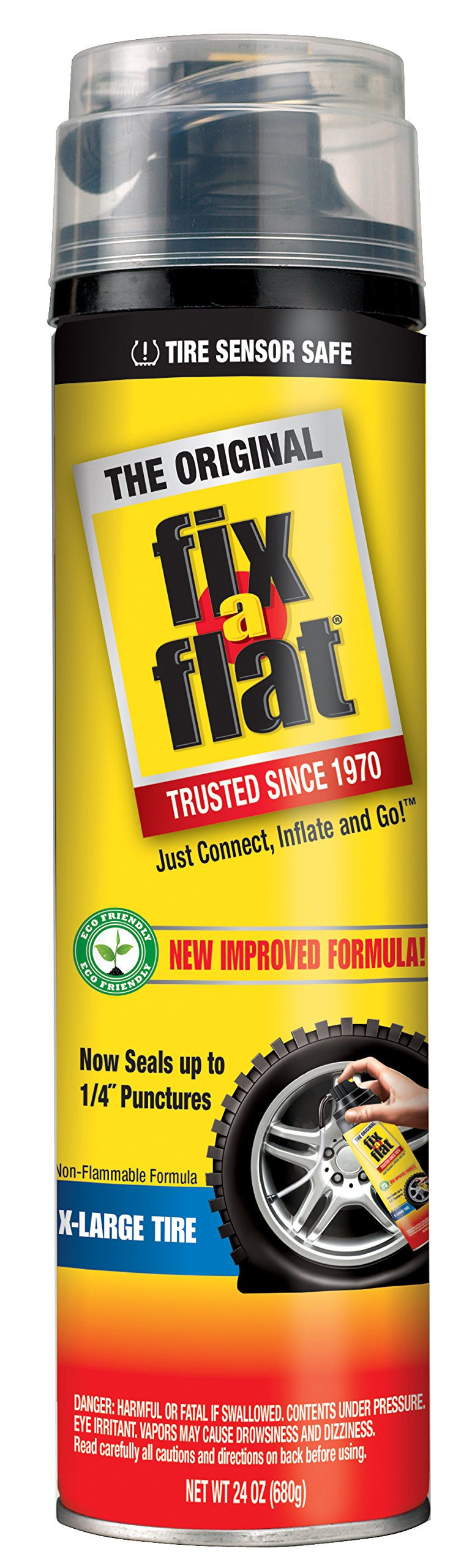 Fix-A-Flat S60269-6PK Aerosol Tire Inflator with Eco-friendly Formula, 24 oz. (Pack of 6) by Fix-A-Flat (Image #1)