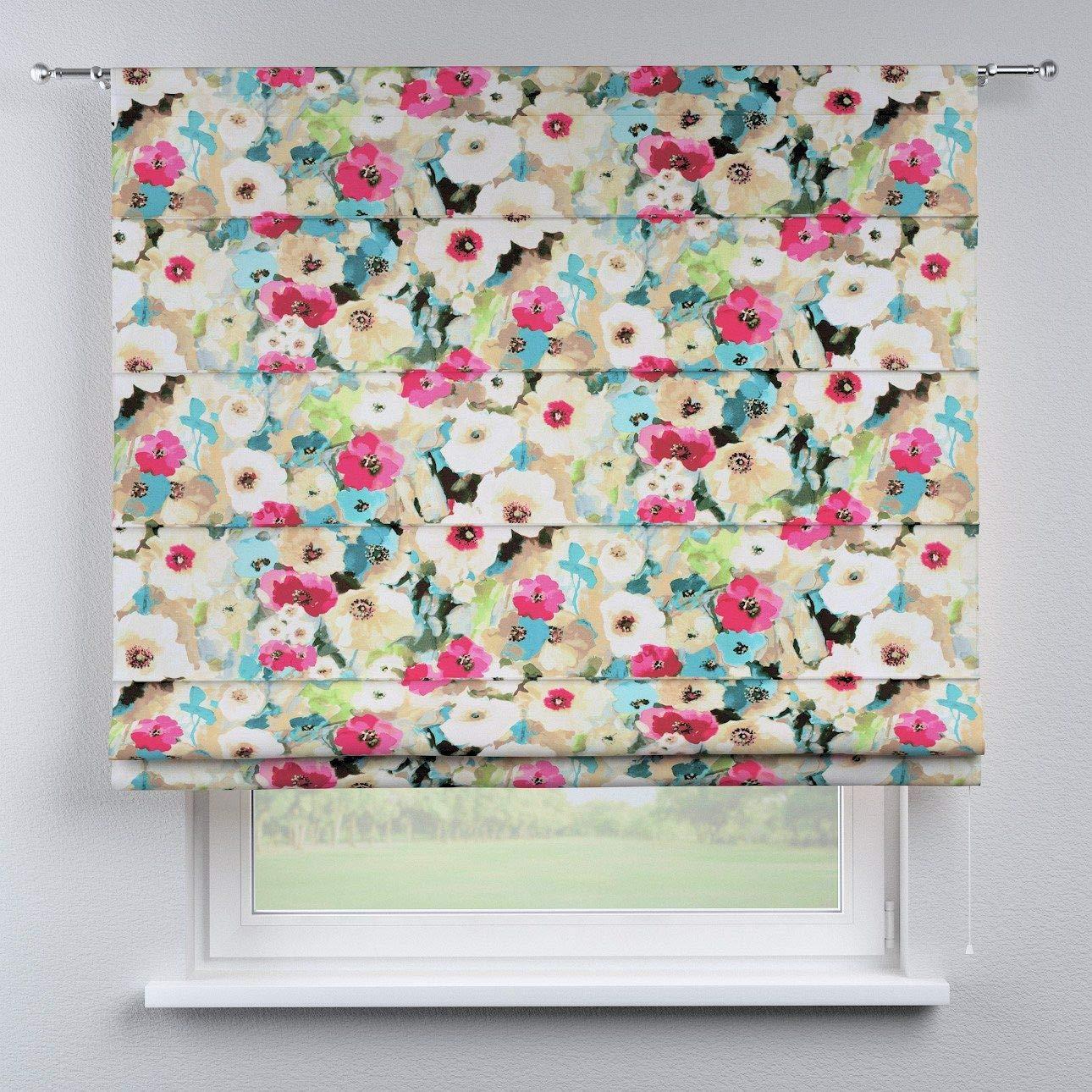 Dekoria Raffrollo Torino ohne Bohren Blickdicht Faltvorhang Raffgardine Wohnzimmer Schlafzimmer Kinderzimmer 130 × 170 cm bunt Raffrollos auf Maß maßanfertigung möglich