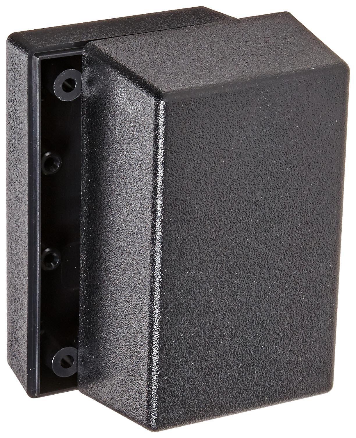 Serpac 112 ABS Plastic Enclosure, 3.6'' Length x 2-1/4'' Width x 2'' Height, Black