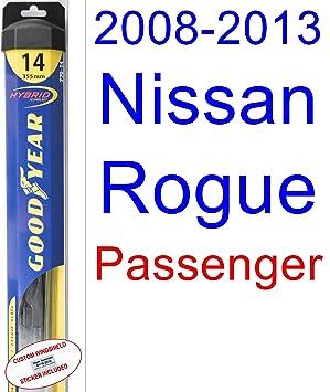 2008 - 2013 Nissan Rogue de repuesto para limpiaparabrisas Set/Kit (Goodyear limpiaparabrisas blades-hybrid) (2009,2010,2011,2012): Amazon.es: Coche y moto