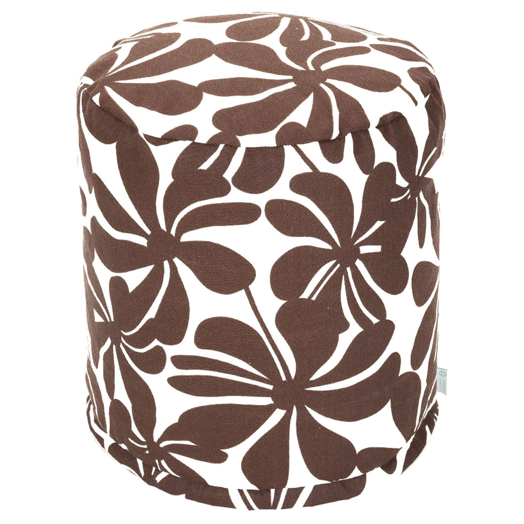 Majestic Home Goods Pouf, Small, Plantation, Chocolate