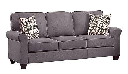 Amazon.com: Homelegance Selkirk sofá de tela con acento ...