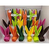 Set di 12 Tovaglioli di coniglietto di Pasqua gia piegati, per decorazione o souvenir, regalo