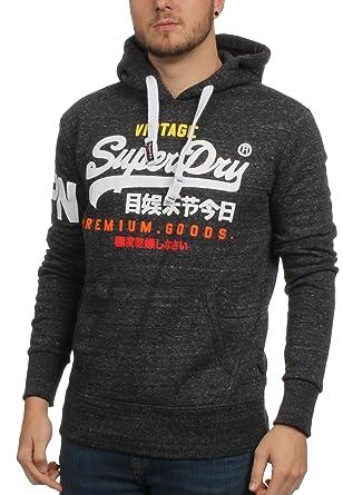 Superdry Herren Premium Waren Tri Hoodie, Grau, X-Small  Amazon.de ... c3bdc38d75