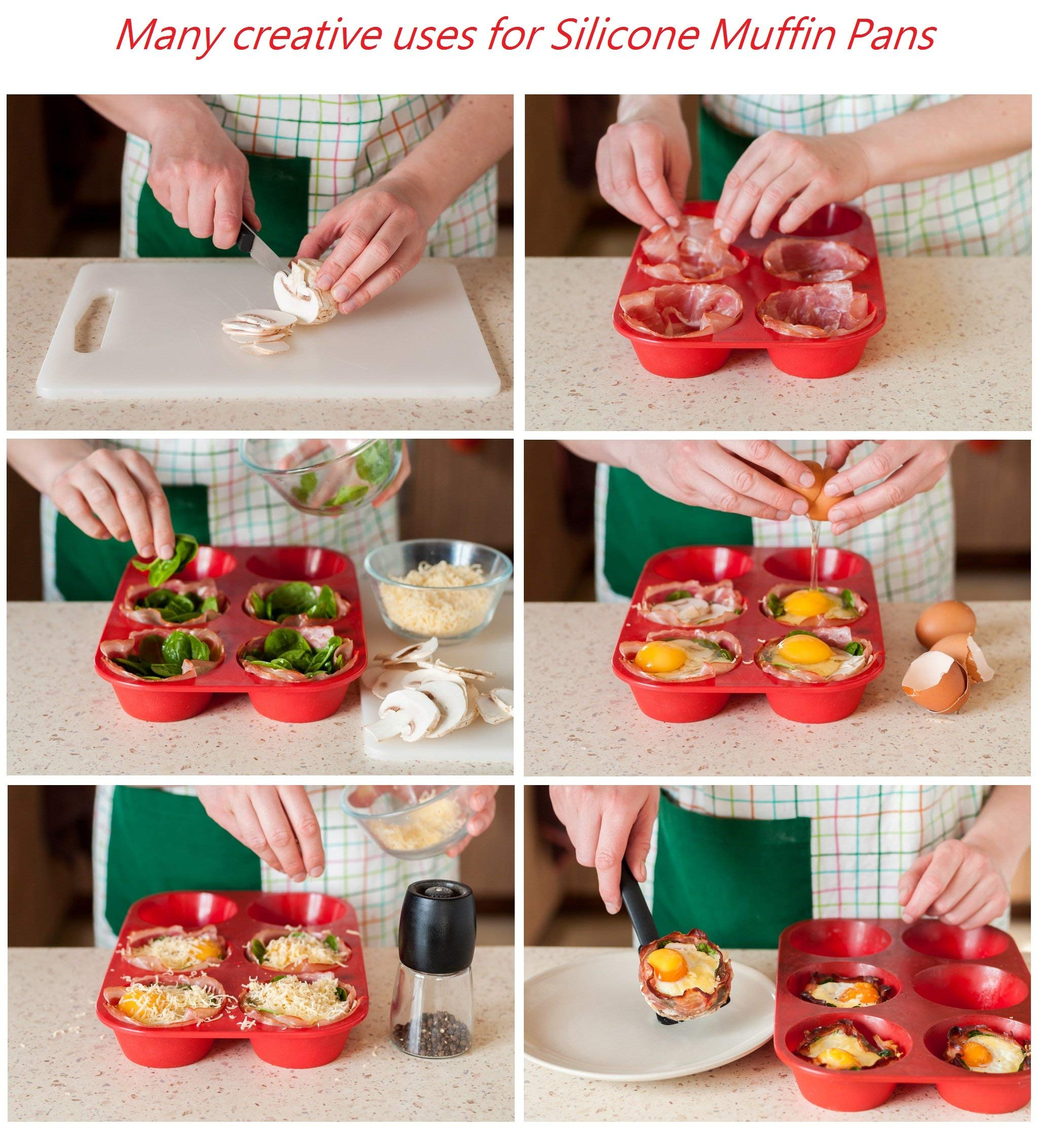 Silicone Texas Muffin Pans and Thanksgiving Cupcake Maker (3, 6 Cup) by Silicone Designs (Image #5)