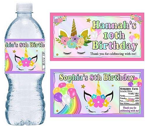 Unicorn Water Bottle Personalized Unicorn