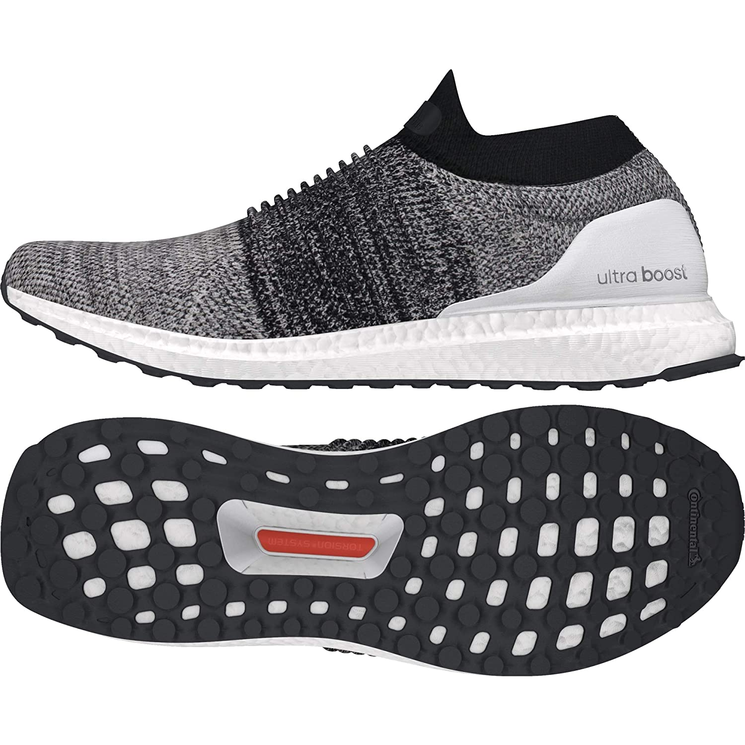 c38e88e5878 Adidas Men s Ultraboost Laceless Ftwwht Ftwwht Cblack Running Shoes - 8  UK India (42 1 9 EU)(BB6141)  Buy Online at Low Prices in India - Amazon.in