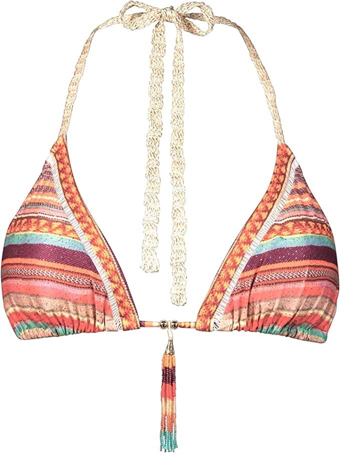 Watercult Denim Cues Parte Superior de Bikini para Mujer