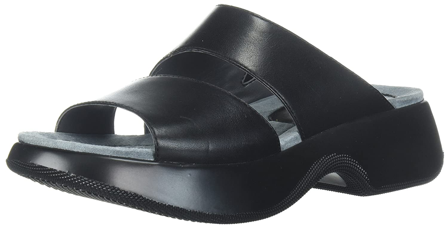 Dansko Women's Lana Slide Sandal B072WFD8BM 39 M EU (8.5-9 US)|Black Full Grain