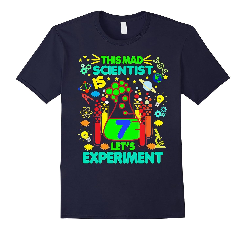 Birthday Shirt Age 7 Seven Boys Girls Science Theme Party-TD