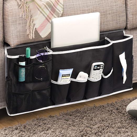 Simple By Design Bedside Caddy Storage 4-Pocket Light or Dark Gray NEW $19.99