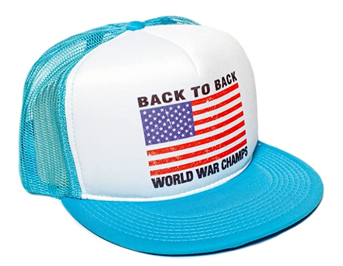 Amazon.com  Back To Back World War Champs Flat Bill Unisex-Adult Cap ... e957ebd44da5