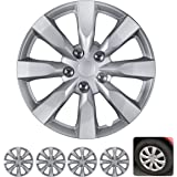 BDK Wheel Guards – (4 Pack) Hubcaps for Car Accessories Wheel Covers Snap Clip-On Auto Tire Rim Replacement for 16 inch Wheel
