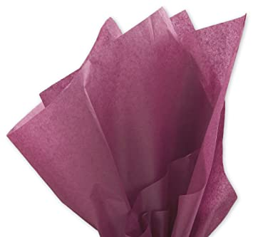 Amazon.com: Brand New Plum Purple Bulk Tissue Paper 15 Inch x 20 ...