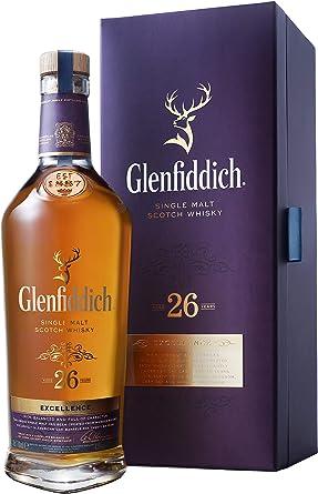 Whisky Escocés De Malta Glenfiddich 26 Años Estuche Botella 700 Ml: Amazon.es: Alimentación y bebidas