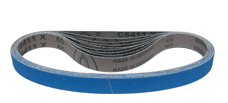 au choix CS 411 X Klingspor CS 411 X Ruban abrasif 25 x 762 mm 10 pi/èces Grain