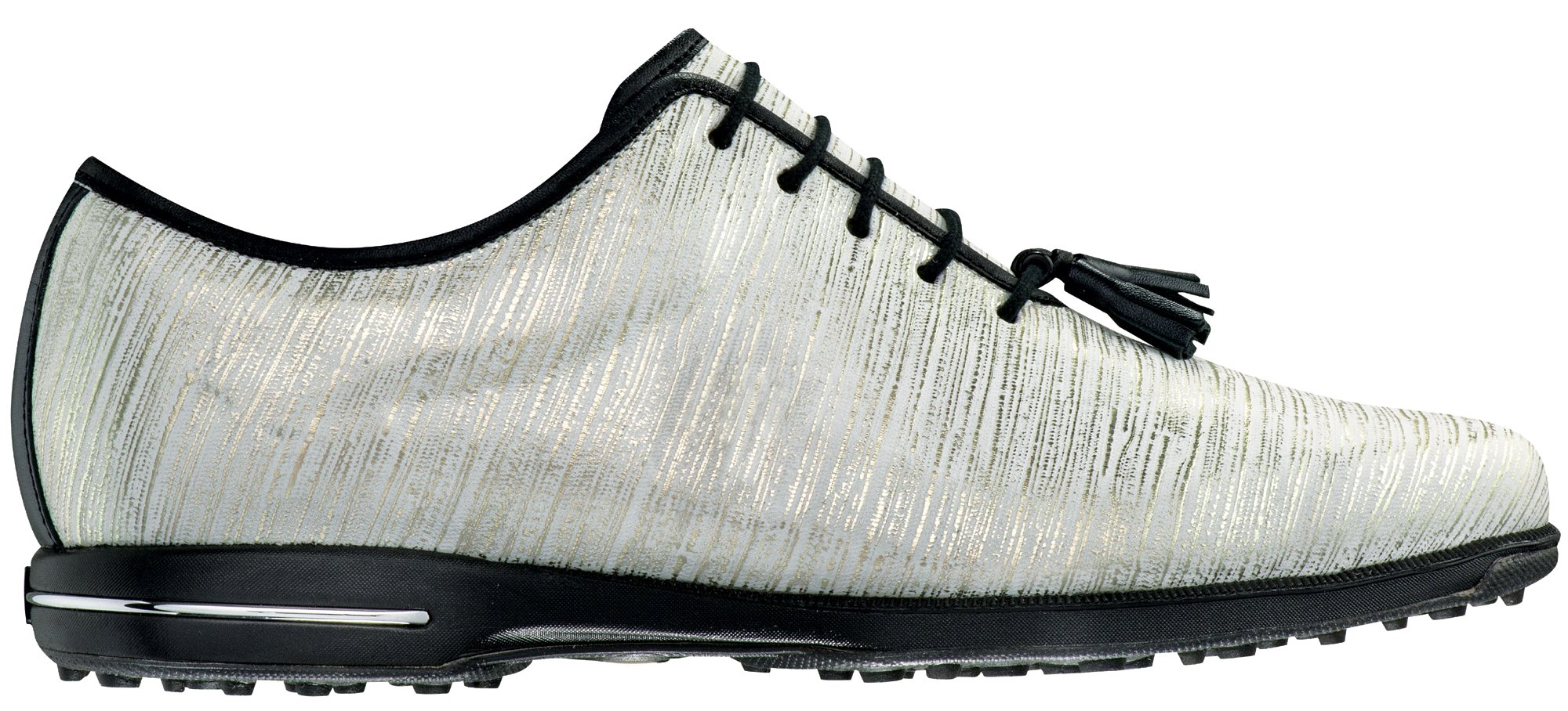 FootJoy Tailored Spikeless Golf Shoes CLOSEOUT Women Gold/White Linen Medium 7