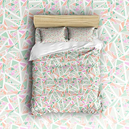Nice Libaoge 4 Piece Bed Sheets Set, Abstract Multicolored Geometric Pattern  Graphic Art Deco Print,