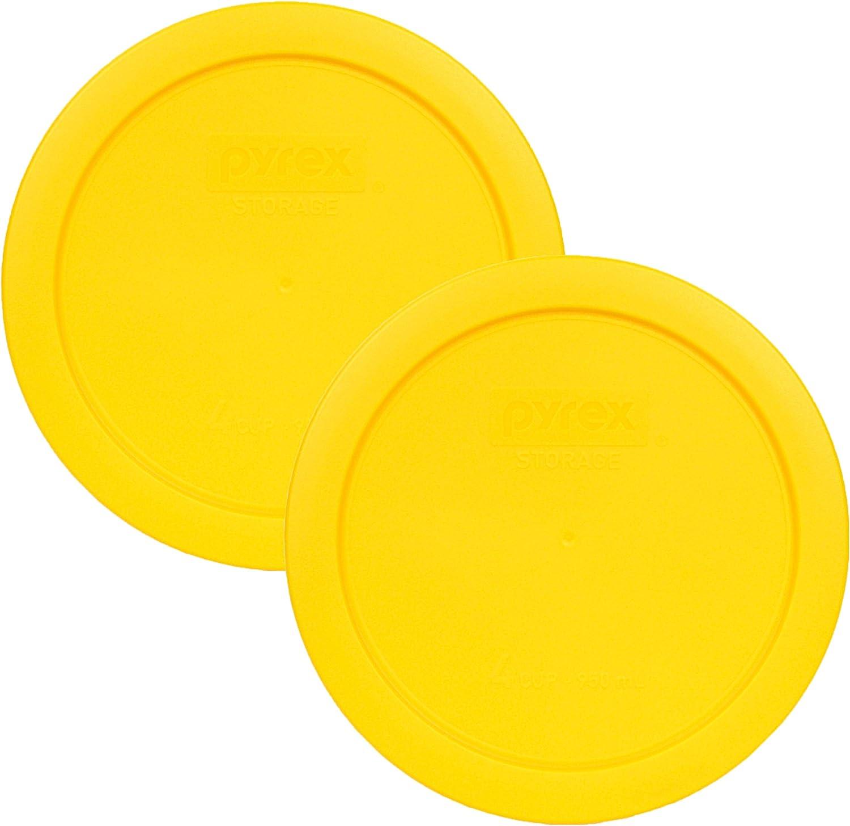 Pyrex 7201-PC 1112141 4 Cup Meyer Lemon Yellow Lid (2-Pack)