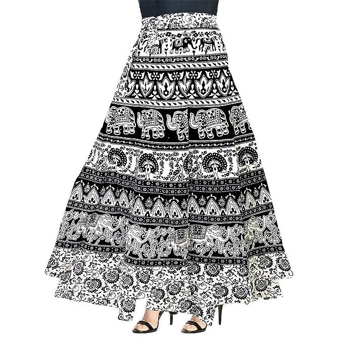 072fb8de09f Khushi Print 100% Cotton Women s Jaipuri Skirt-(WRAP Around Multi Color  Free Size)  Amazon.in  Clothing   Accessories