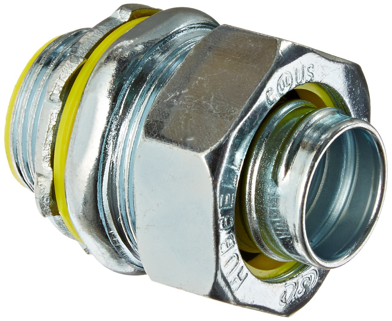 Hubbell H0751 Liquid Tight Connector, Male, Steel, Insulated, Straight, 3/4''
