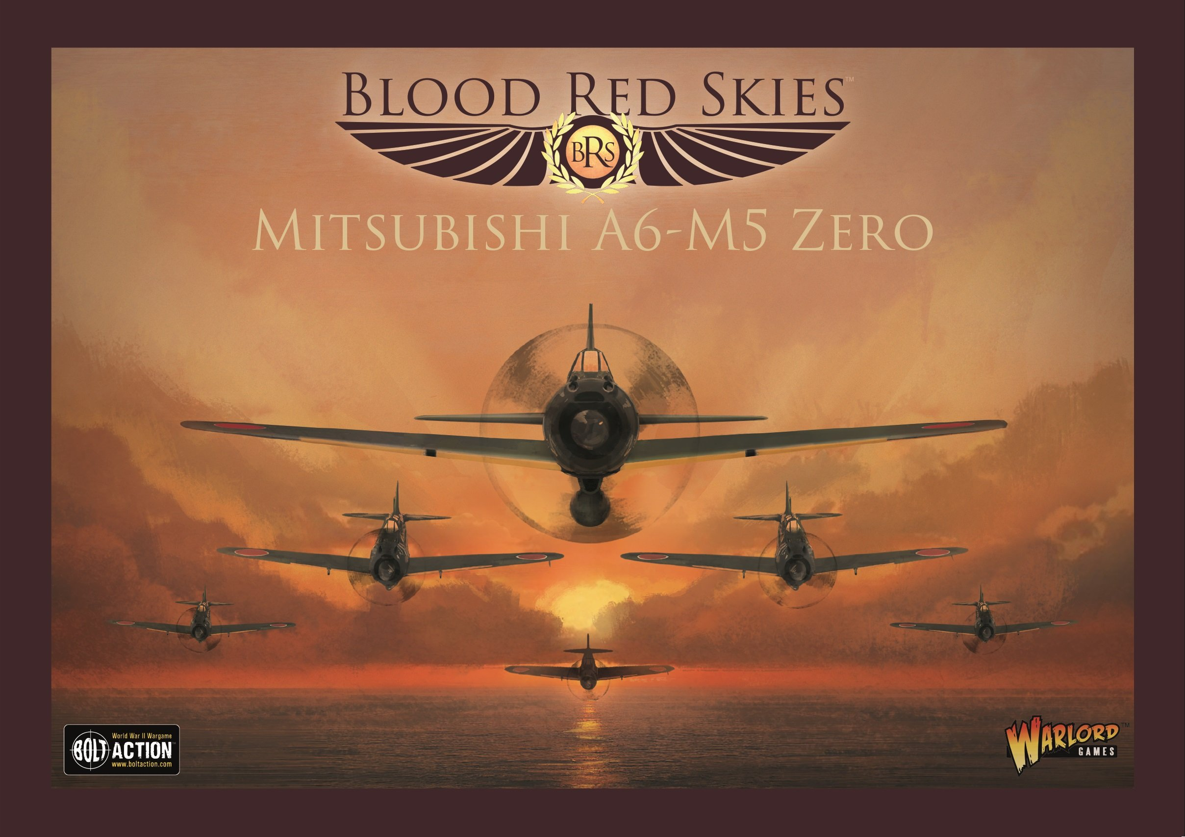 Bolt Action Warlord Games, Blood Red Skies - Mitsubishi A6-M5 Zero - Air Combat Game Miniatures