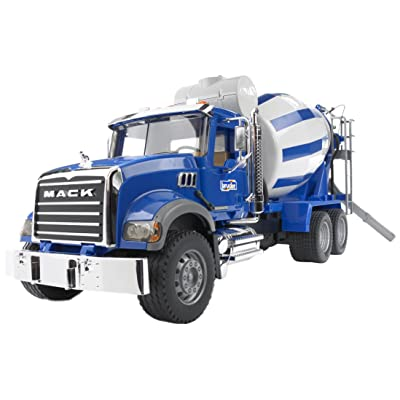 Bruder 02814 Mack Granite Cement Mixer Truck: Toys & Games