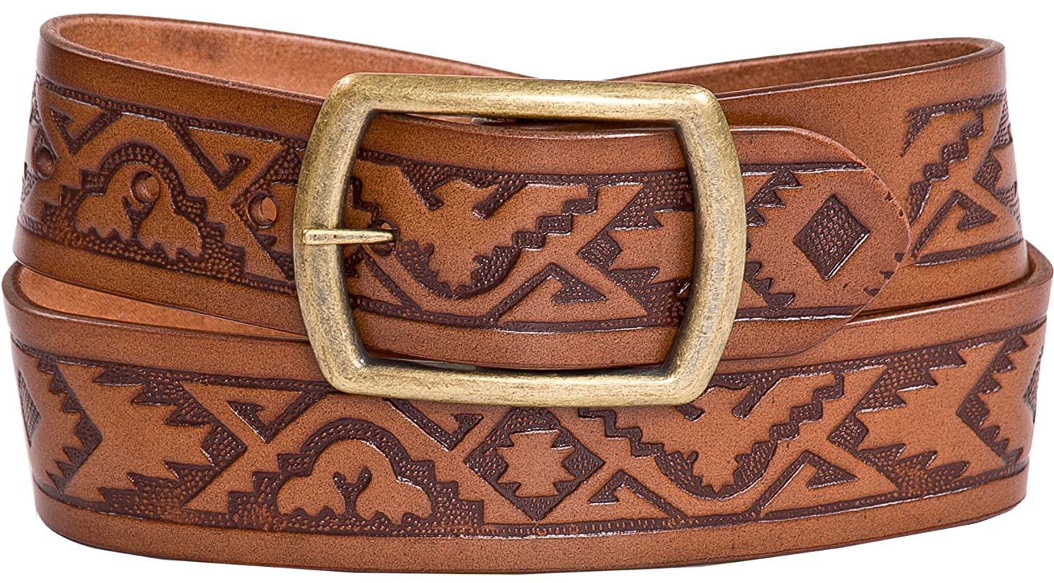 New West Mens Hand Crafted Fine Leather Belt