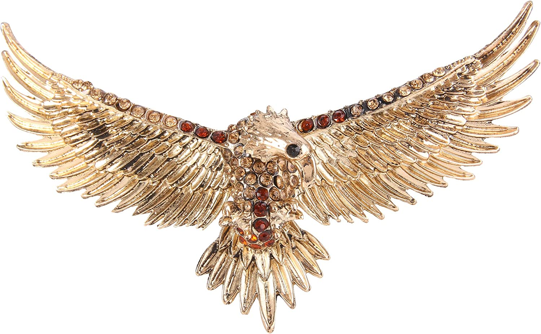 Ever Faith Cristal Autrichien Style Vintage Aigle Volant Oiseau Animal Broche