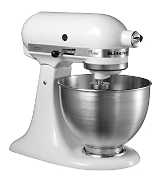 KitchenAid 5KSM45EWH - Batidora amasadora, 250 W, color blanco: Amazon.es: Hogar